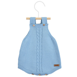 Front braided baby romper CLOUD