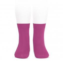 Plain stitch basic short socks BUGAMBILIA