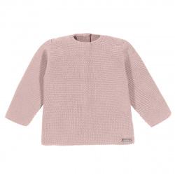 Garter stitch sweater PALE PINK