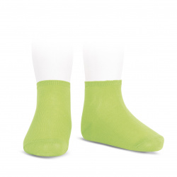 Elastic cotton ankle socks LIME
