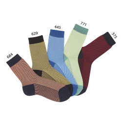 Chaussettes courtes texture pique bicouleur