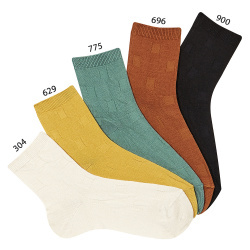 Men short socks with check texture