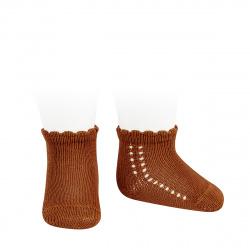 Side openwork perle short socks OXIDE