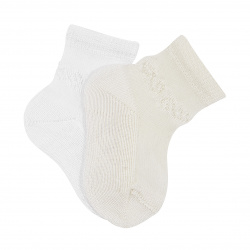 Transparent ceremony socks with small border