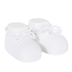 Booties with cord WHITE
