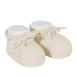 Booties with cord LINEN