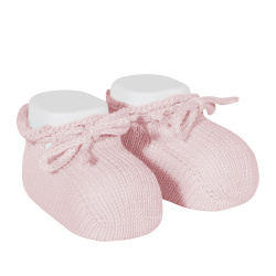 Booties with cord PINK