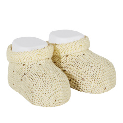 Links stitch openwork booties BUTTER