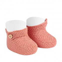 Sand stitch booties PEONY