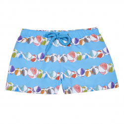 Quick dry beach ball party print boxer swimsuit MAYAN