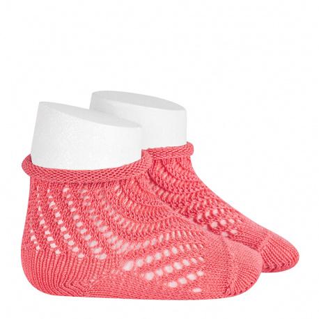 Calcetines cortos de perlé calado red CORALINA