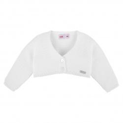 Bolero en tricot BLANC