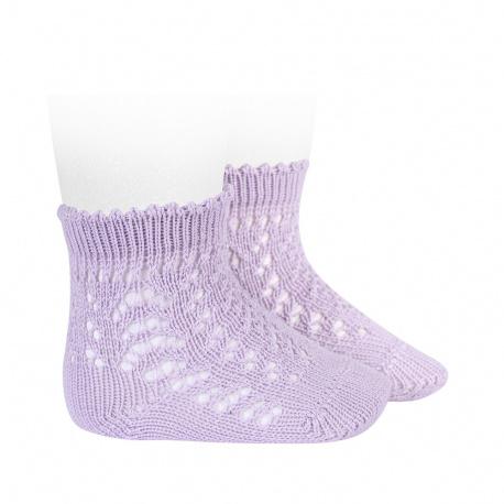 Calcetines cortos de perlé calados MALVA