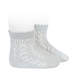 Cotton openwork short socks PEARLY
