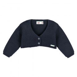 Bolero en tricot BLEU MARINE
