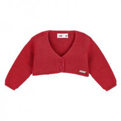Bolero en tricot ROUGE