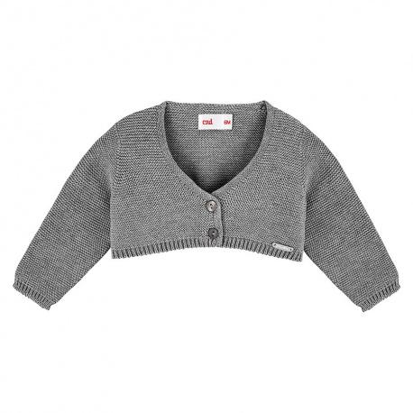 Bolero en tricot GRIS CLAIR