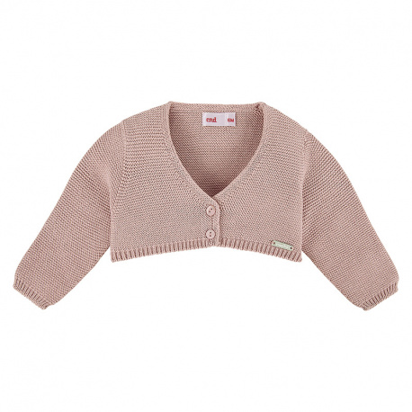 Bolero en tricot VIEUX ROSE