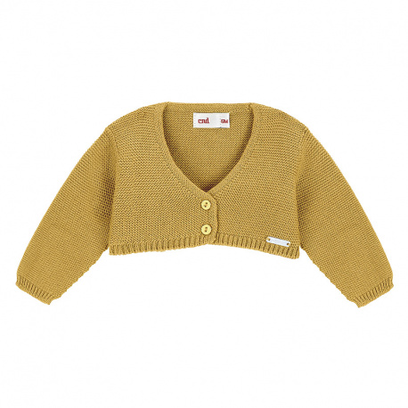 Bolero en tricot MOUTARDE