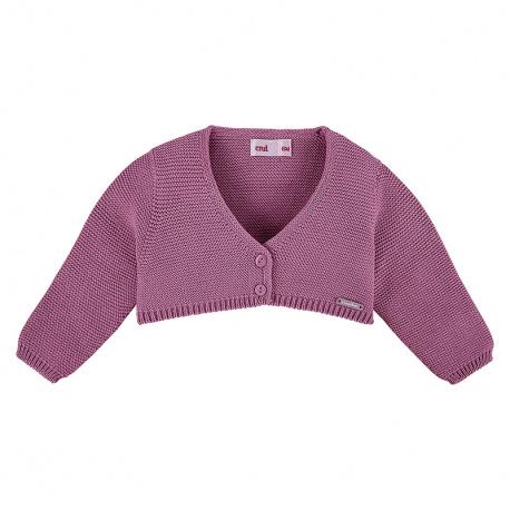 Garter stitch bolero cardigan CASSIS