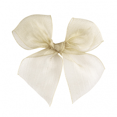 Hairclip with organza bow LINEN