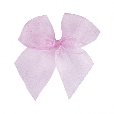 Hairclip with organza bow PINK