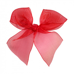 Hairclip with organza bow RED