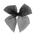 Hairclip with organza bow BLACK