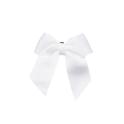 Hair clip with small bow WHITE