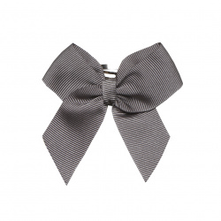 Hair clip with small bow LIGHT GREY