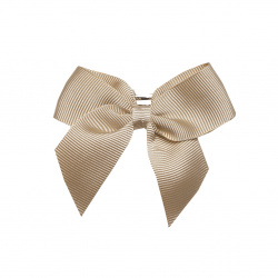 Hair clip with small bow CAMEL