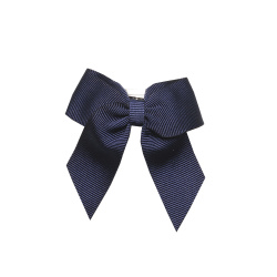 Hair clip with small bow NAVY BLUE