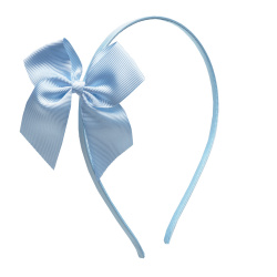 Headband with grossgrain bow BABY BLUE