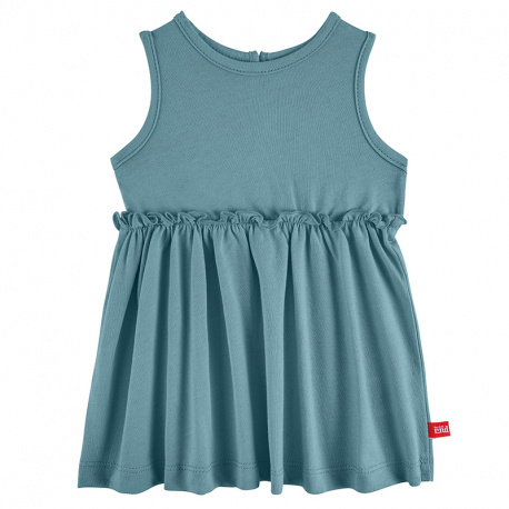 Dress with back opening STONE BLUE