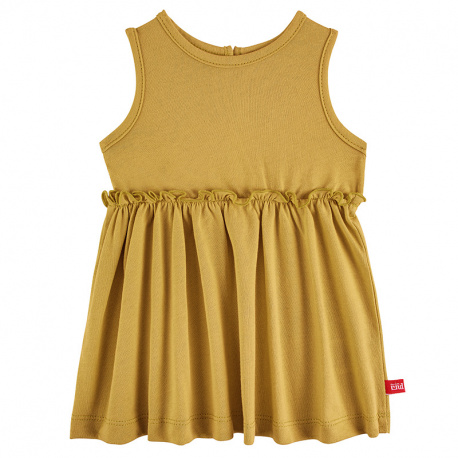 Dress with back opening MUSTARD