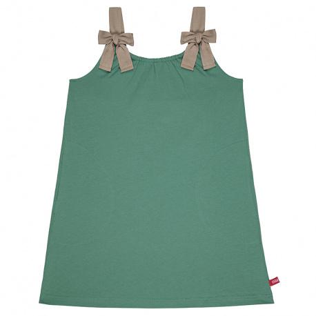 Dress with herringbone ribbon braces CEDAR