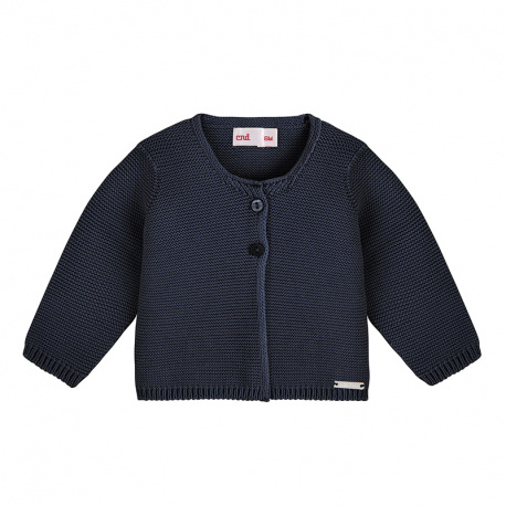 Cardigan en tricot BLEU MARINE