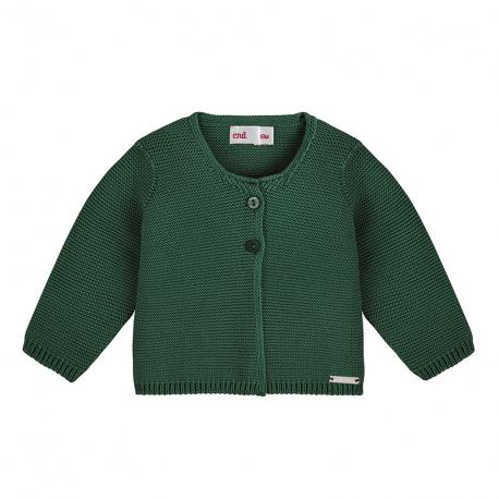 Cardigan en tricot VERD BOUTEILLE