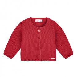 Cardigan en tricot ROUGE
