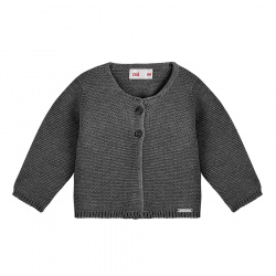 Garter stitch cardigan ANTHRACITE