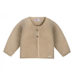 Garter stitch cardigan NOUGAT