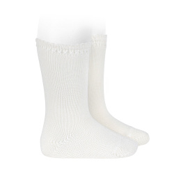 Perle knee high socks CREAM