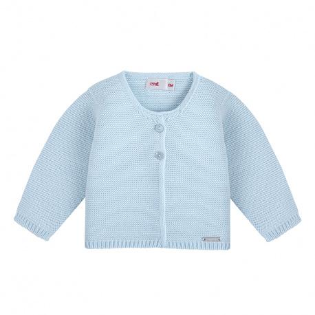 Garter stitch cardigan BABY BLUE