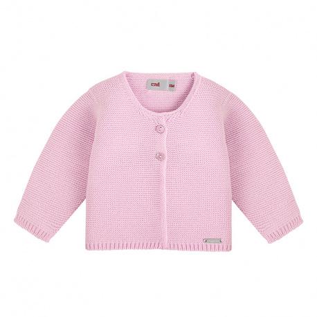 Garter stitch cardigan PINK