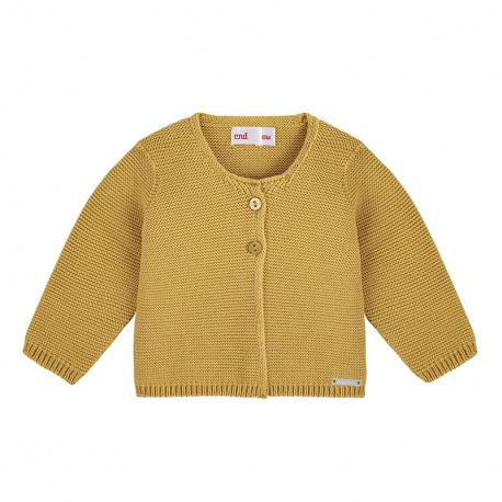 Cardigan en tricot MOUTARDE