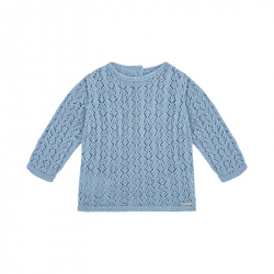 Shell openwork sweater CLOUD