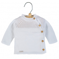 Sand stitch star sweater WHITE