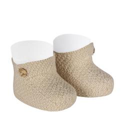 Sand stitch booties LINEN