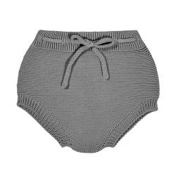 Culottes point mousse avec corde GRIS CLAIR