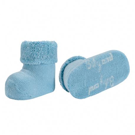 Chausson bébé bordure envers et tissu-éponge NUAGE